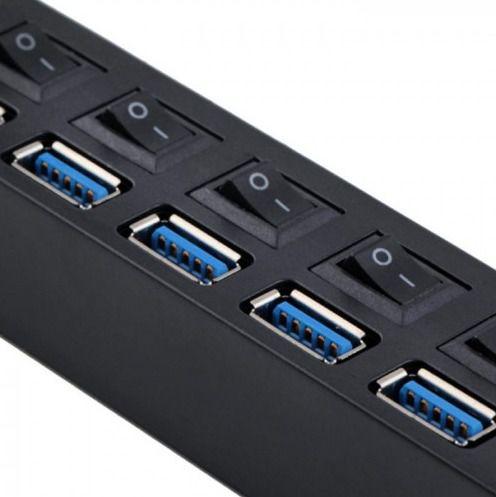 Hub Usb 7 Portas 3.0 Pendrive Tv Mouse Teclado Adaptador Top