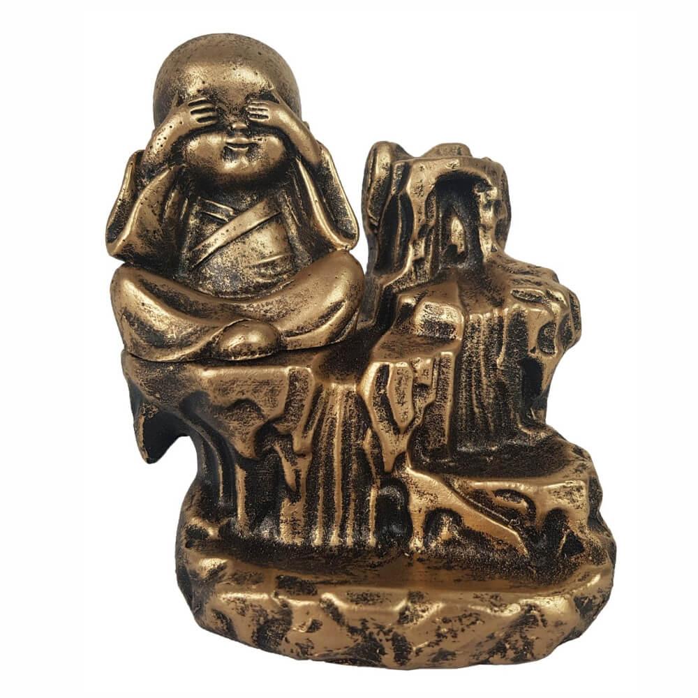 Incensario Buda cego Cascata porta incenso Backflow.