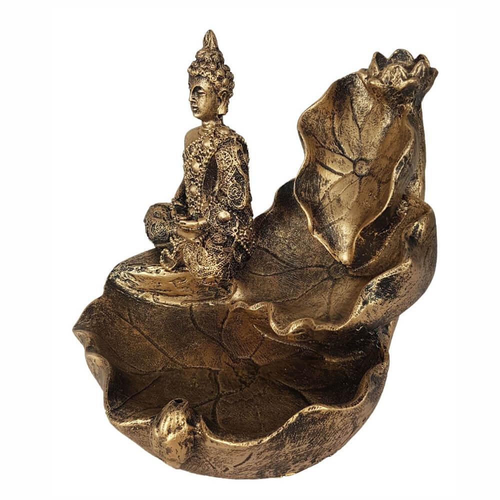 Incensário buda Hindu Cascata Flor para incenso Backflow.