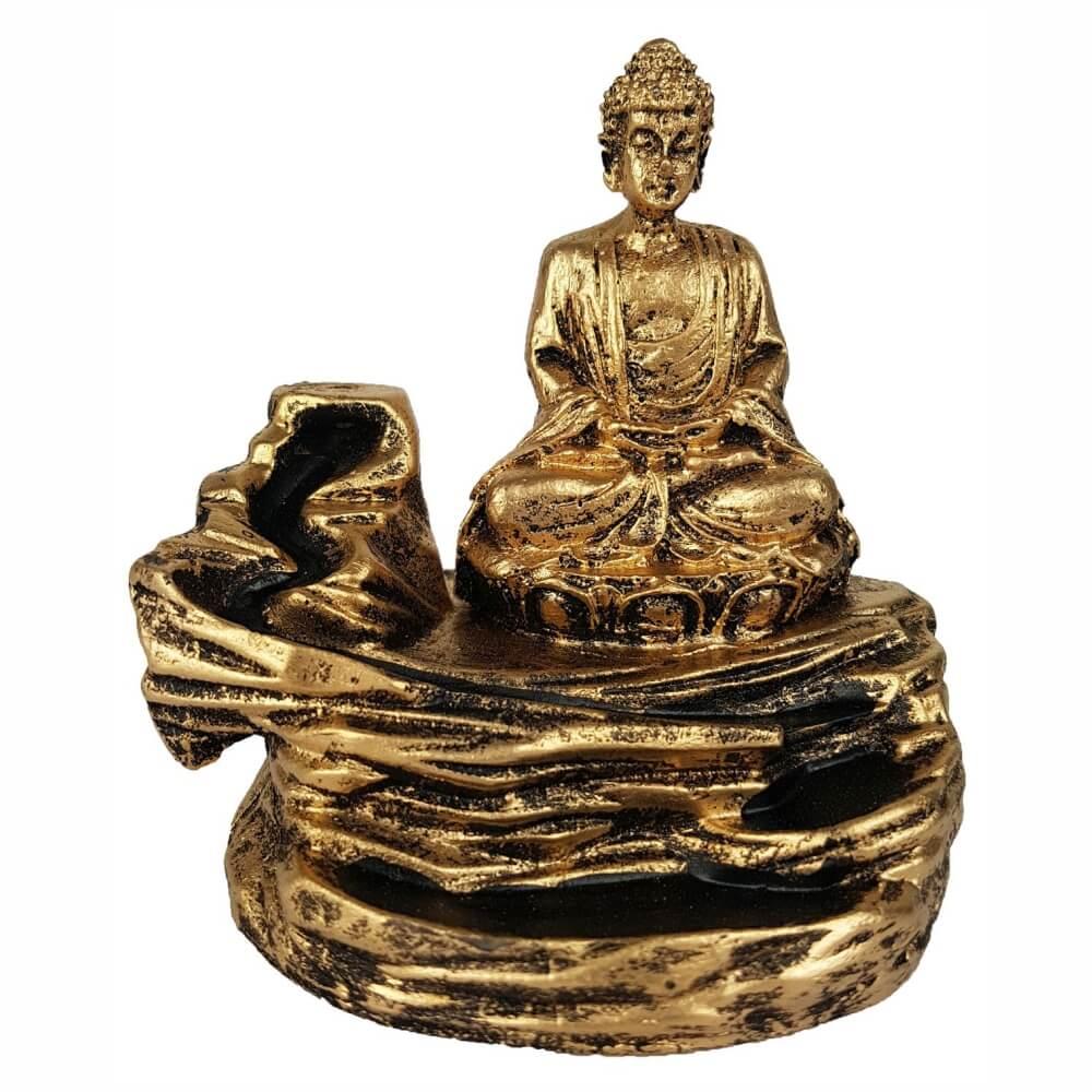 Incensario Buda meditando Cascata para incenso Backflow.
