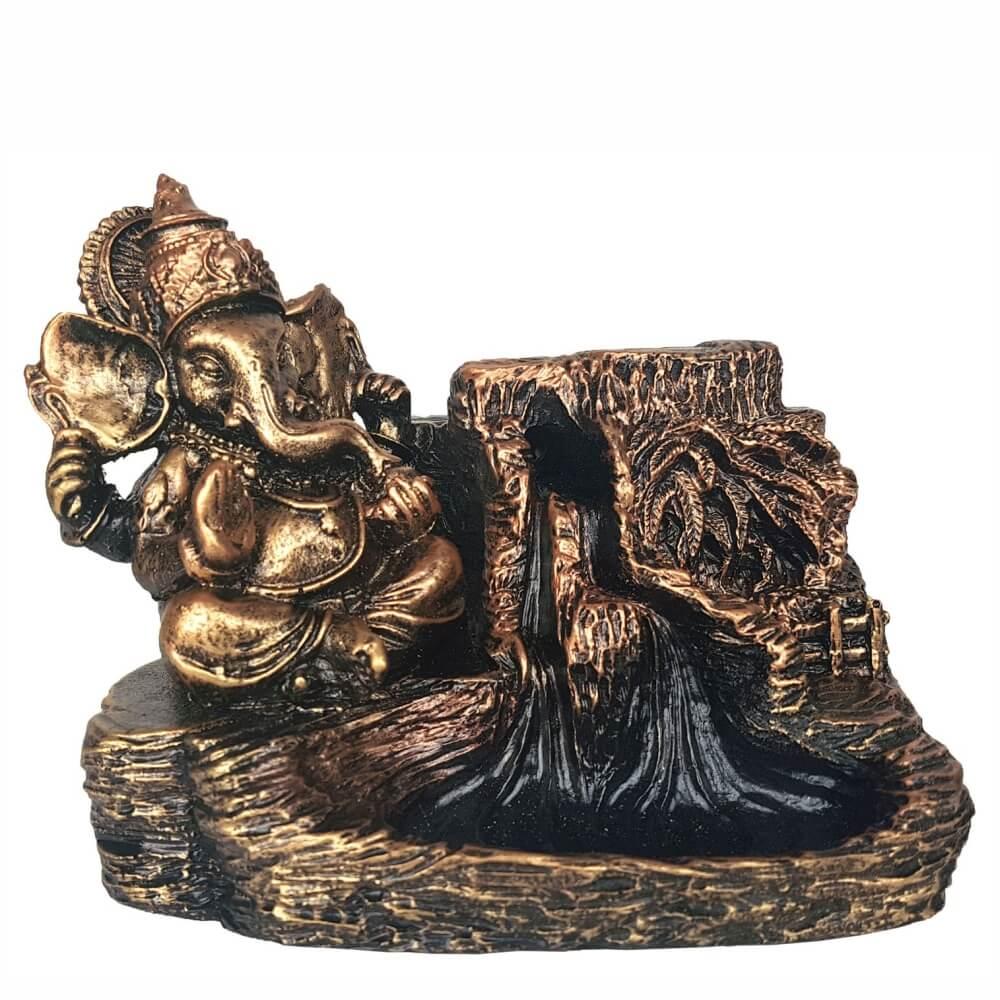 Incensário Cascata Ganesha porta incenso Grande Backflow.