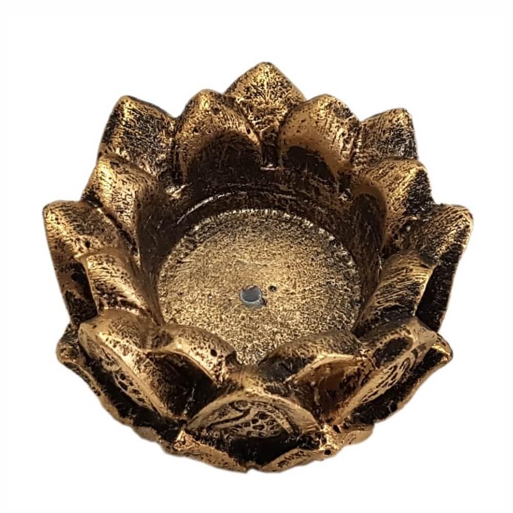 Incensário Castiçal Flor De Lotus