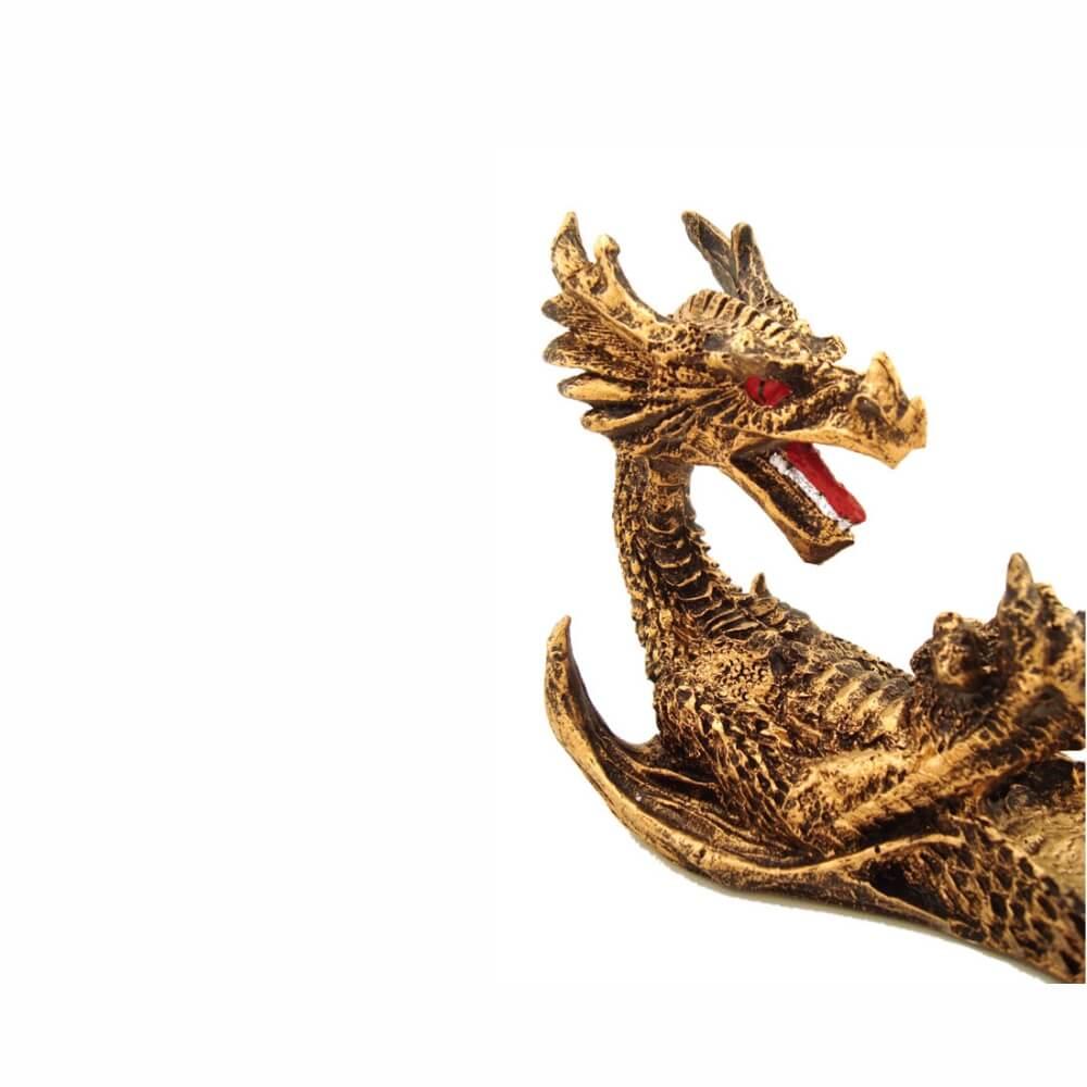 Incensário Dragão barca vareta grande porta incenso.