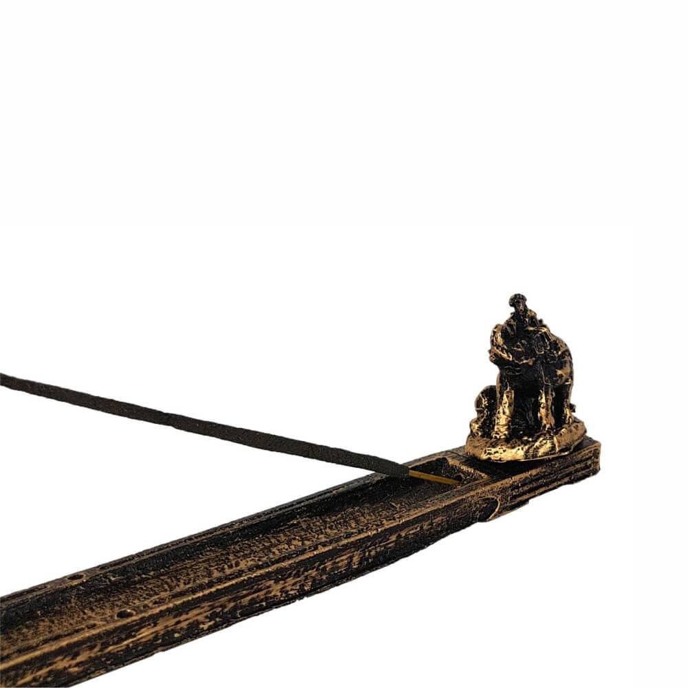 Incensário Elefante indiano porta incenso vareta.