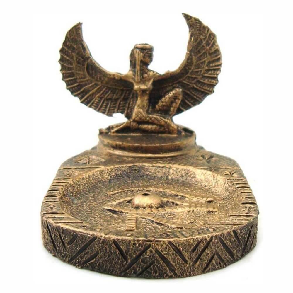 Incensário Ísis deusa do amor e da magia mãe do Egito incenso.