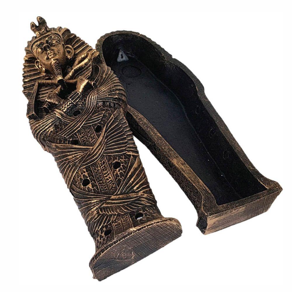 Incensário Sarcófago Vareta Egípcio porta incenso Grande