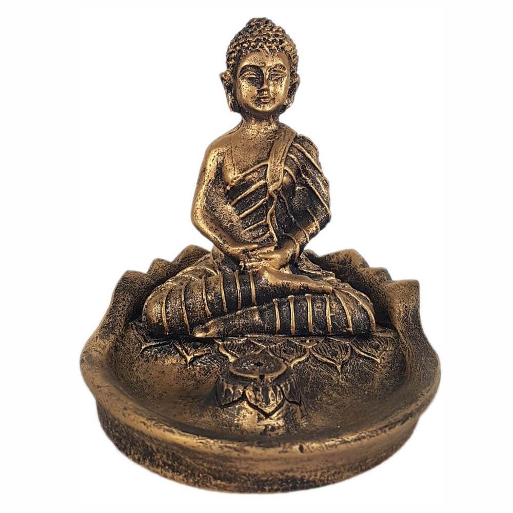 Incensário vareta buda hindu meditando porta incenso.