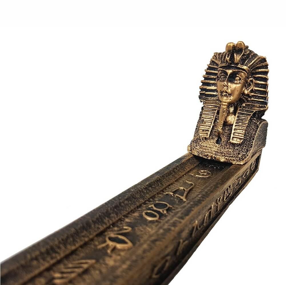 Incensário vareta Esfinge em Barra Egito Egípcio porta incenso.