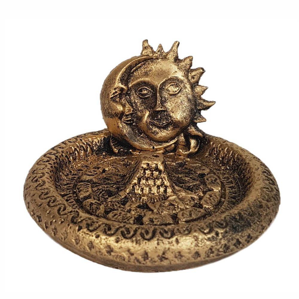 Incensário Vareta Sol e Lua porta incenso.
