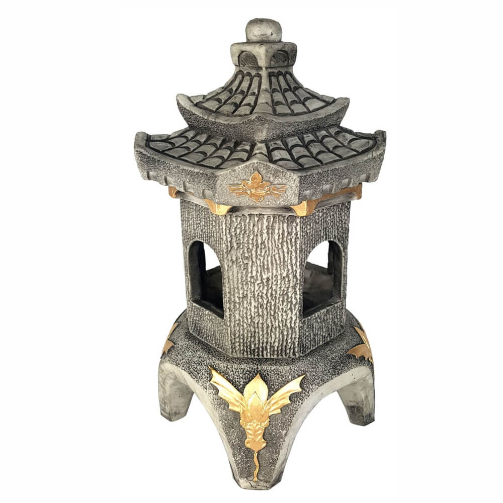 Lanterna luminária Japonesa Para Jardim grande resina maciça.