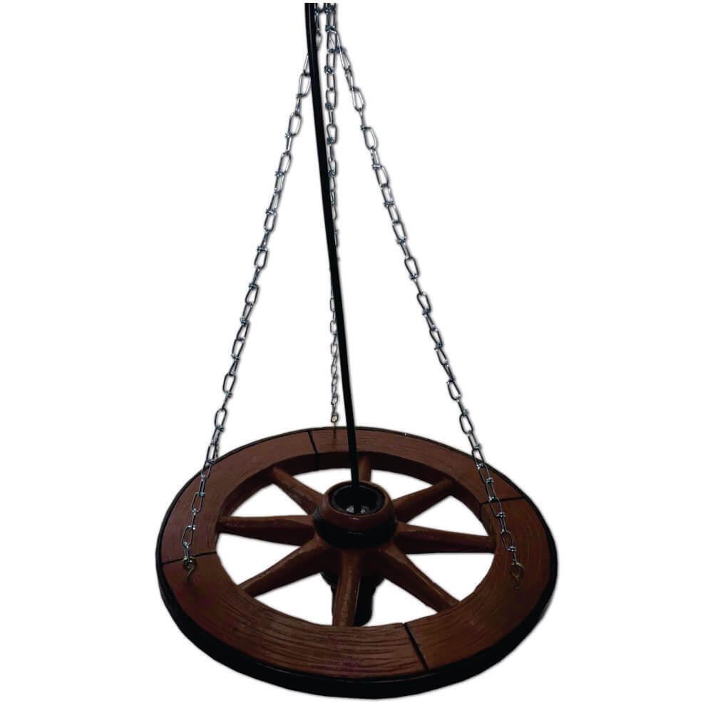 Luminária pendente Roda de carroça rústico.