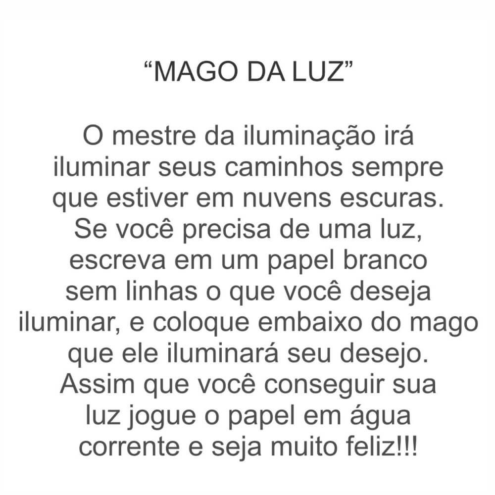 Mago Merlim Da Luz Com Lampião Decorativo.