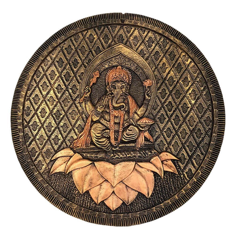 Mandala ganesha quadro grande em alto relevo.