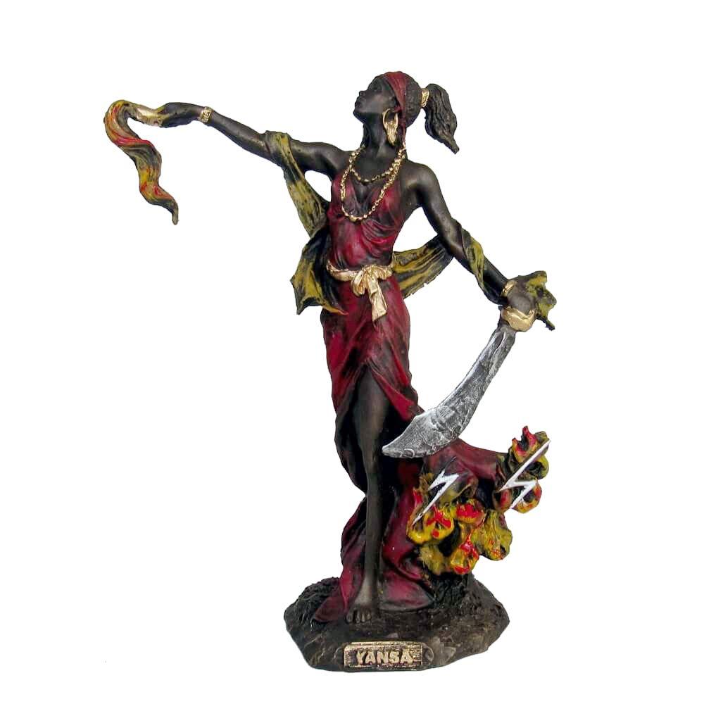 Orixá Yansã Oyá ou Inhançã estátua umbanda candomblé.