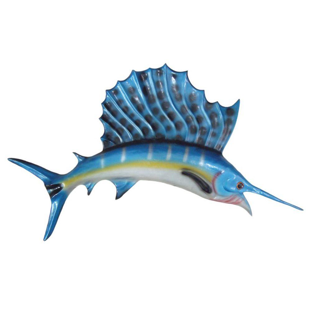 Peixe Agulhão sailfish de parede Grande para decoração.
