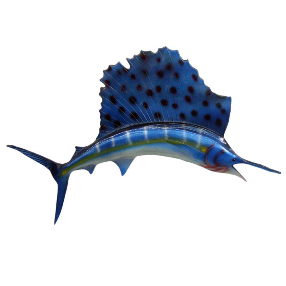 Peixe Agulhao Vela salfish Médio decoração de parede.