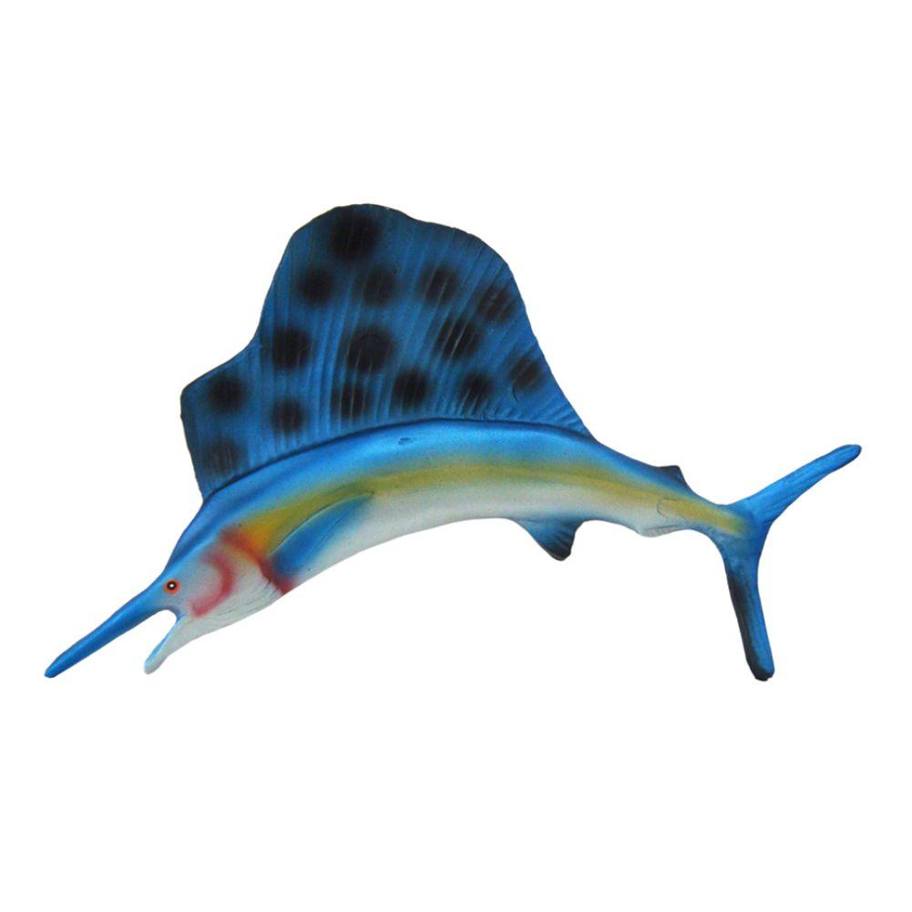 Peixe Agulhao Vela Salfish Pequeno de parede decoração.