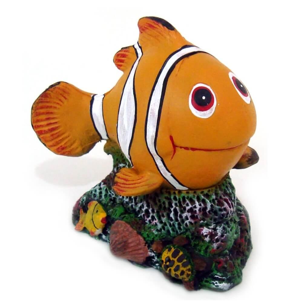 Peixe palhaço Nemo grande enfeite decoração de aquário.