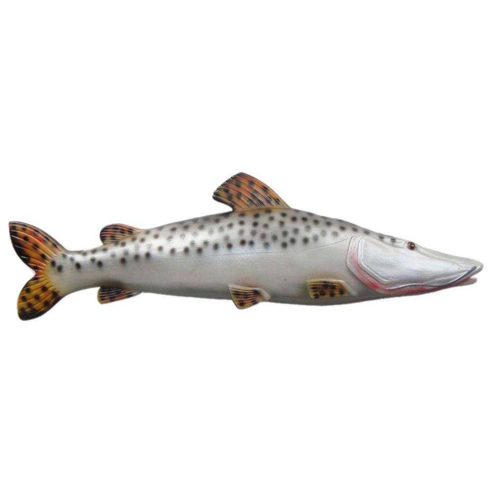 Peixe Pintado De Parede Em Alto Relevo Para Decoração Shop
