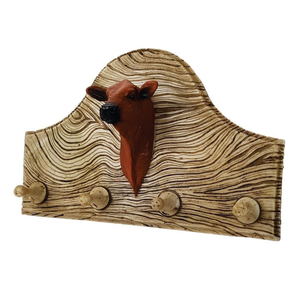 Porta chaves ou roupas cabeça de vaca rústico decoração.