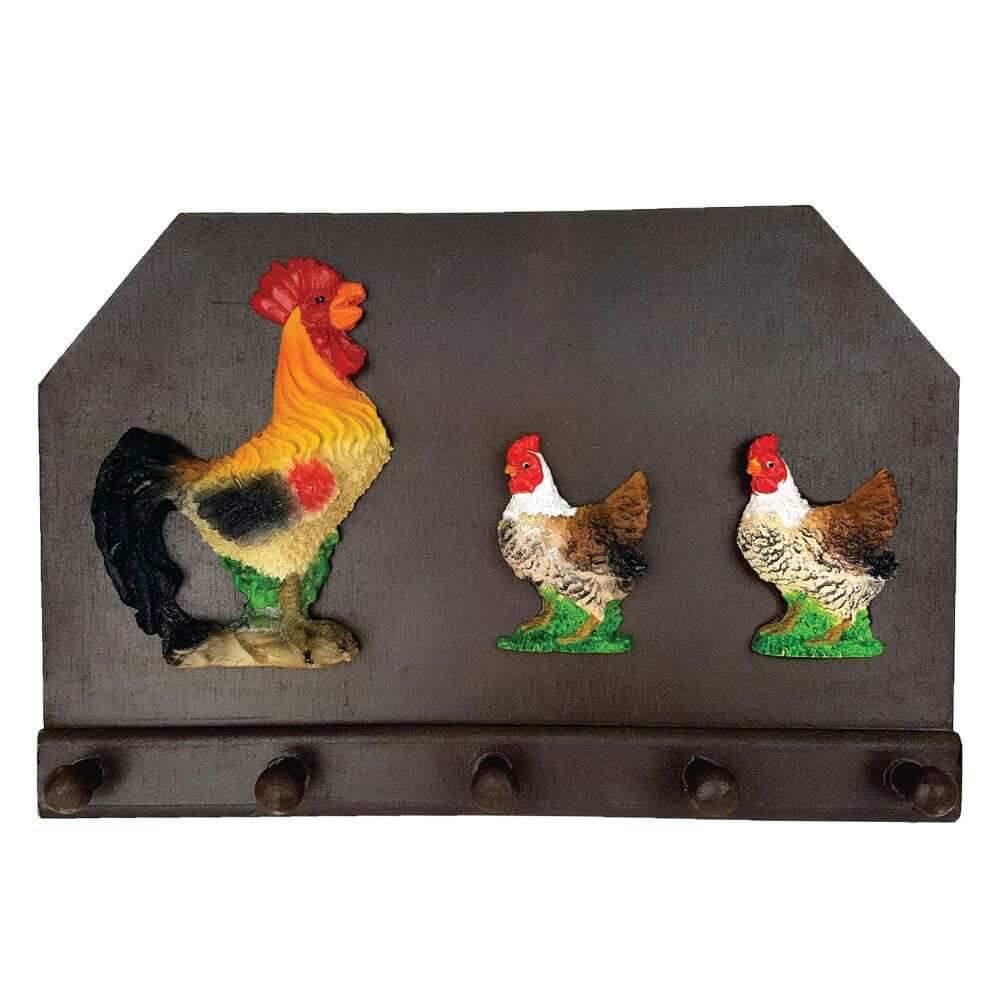 Porta chaves ou pano de prato família galinhas Cozinha.