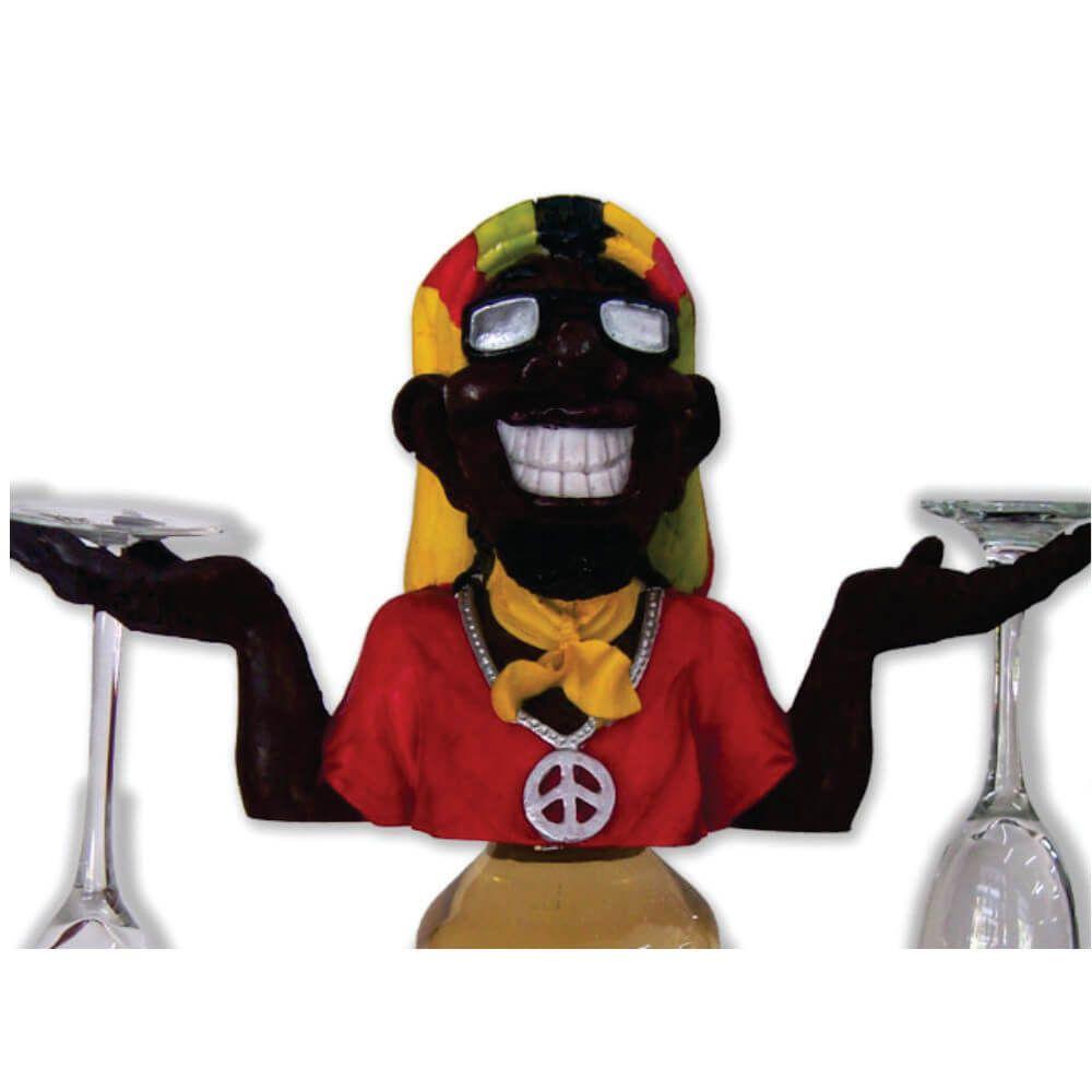 Porta Garrafa e Taças Bob Marley grande