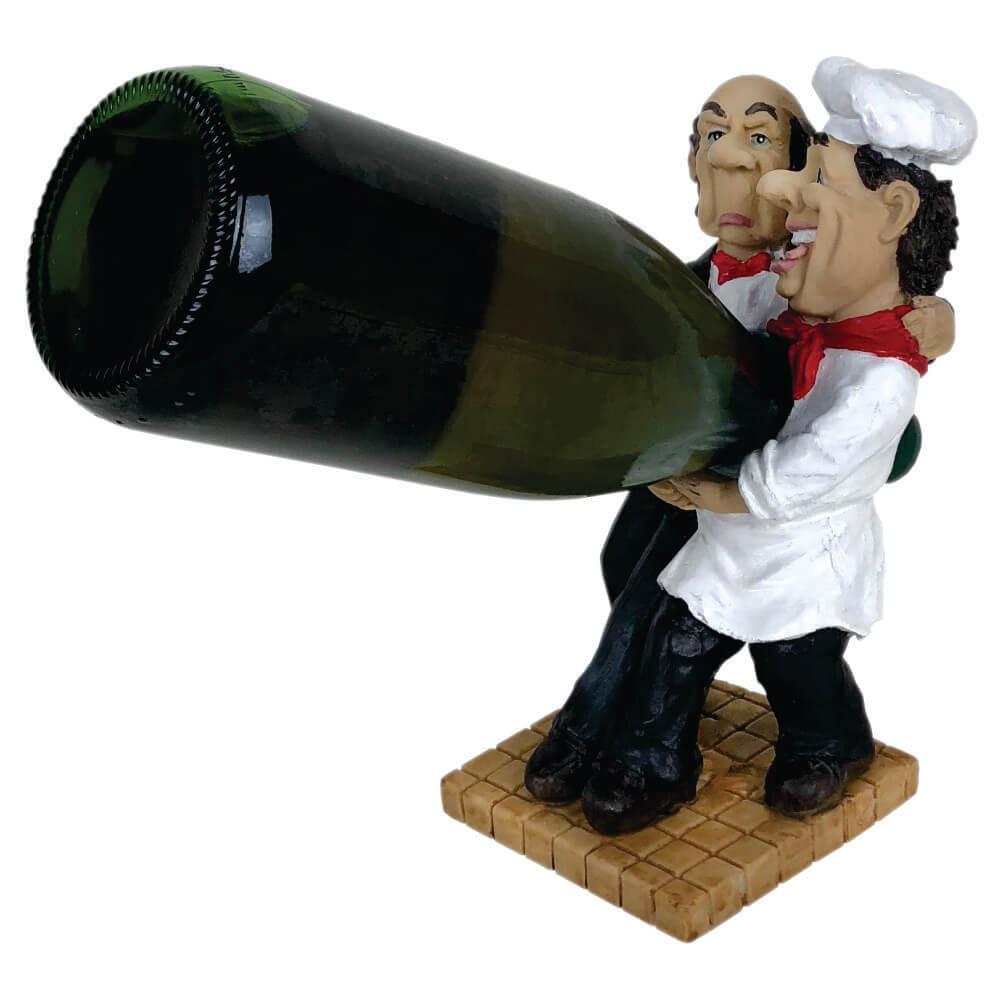 Porta vinho cozinheiro e Garçom Equilíbrista grande.