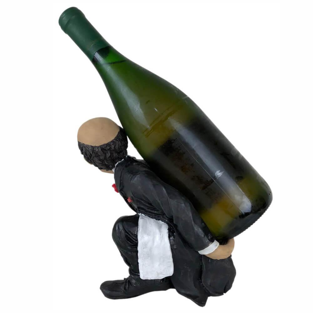 Porta vinho garrafa Mordomo decoração grande.