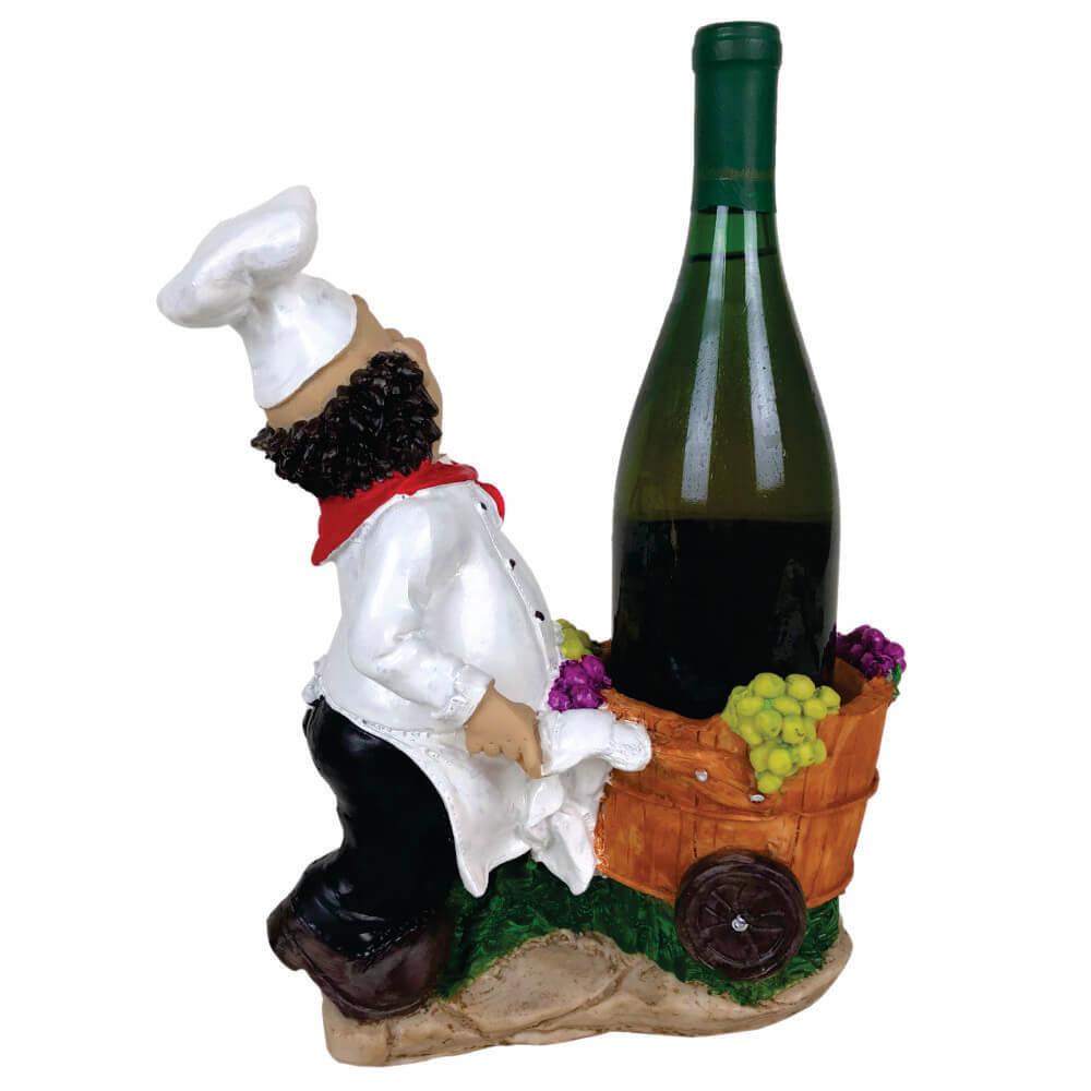 Porta vinho Cozinheiro Carrinho decoração grande.