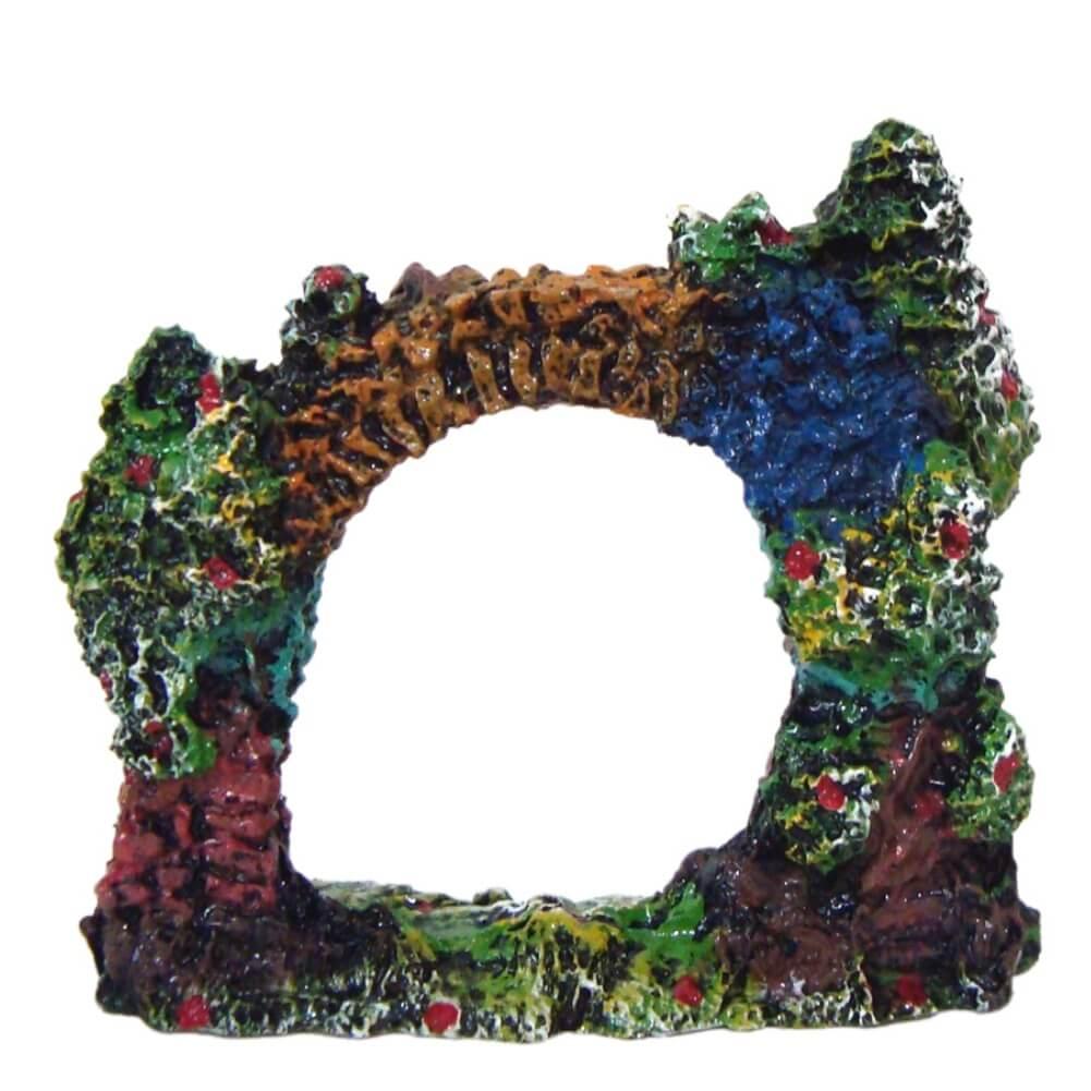 Portal Com Algas enfeite para aquário decoração.