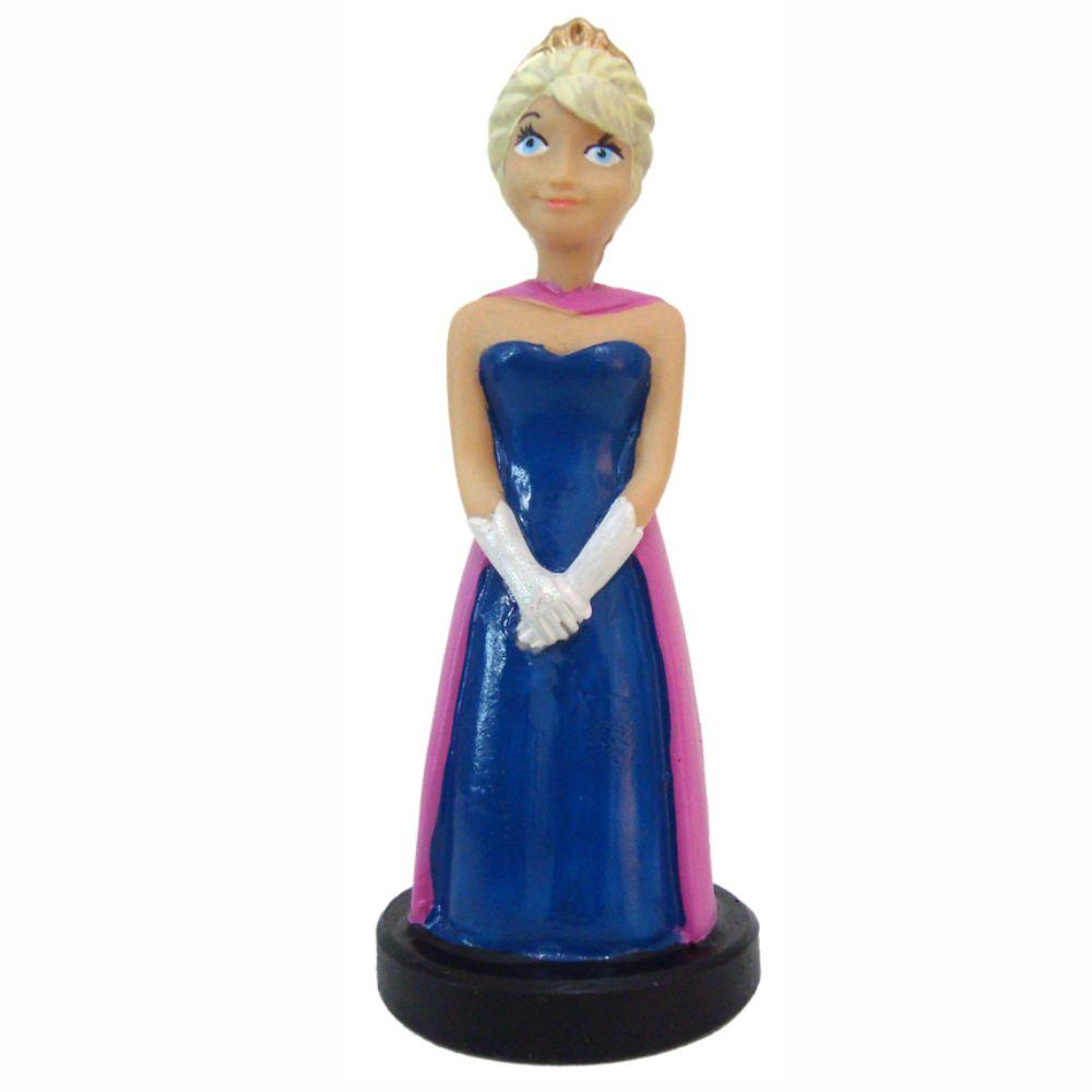 Princesa Elsa Frozen Escultura Decorativa Detalhada