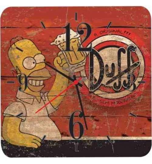 Relógio De Parede Em Madeira Mdf Cerveja Duff Simpsons