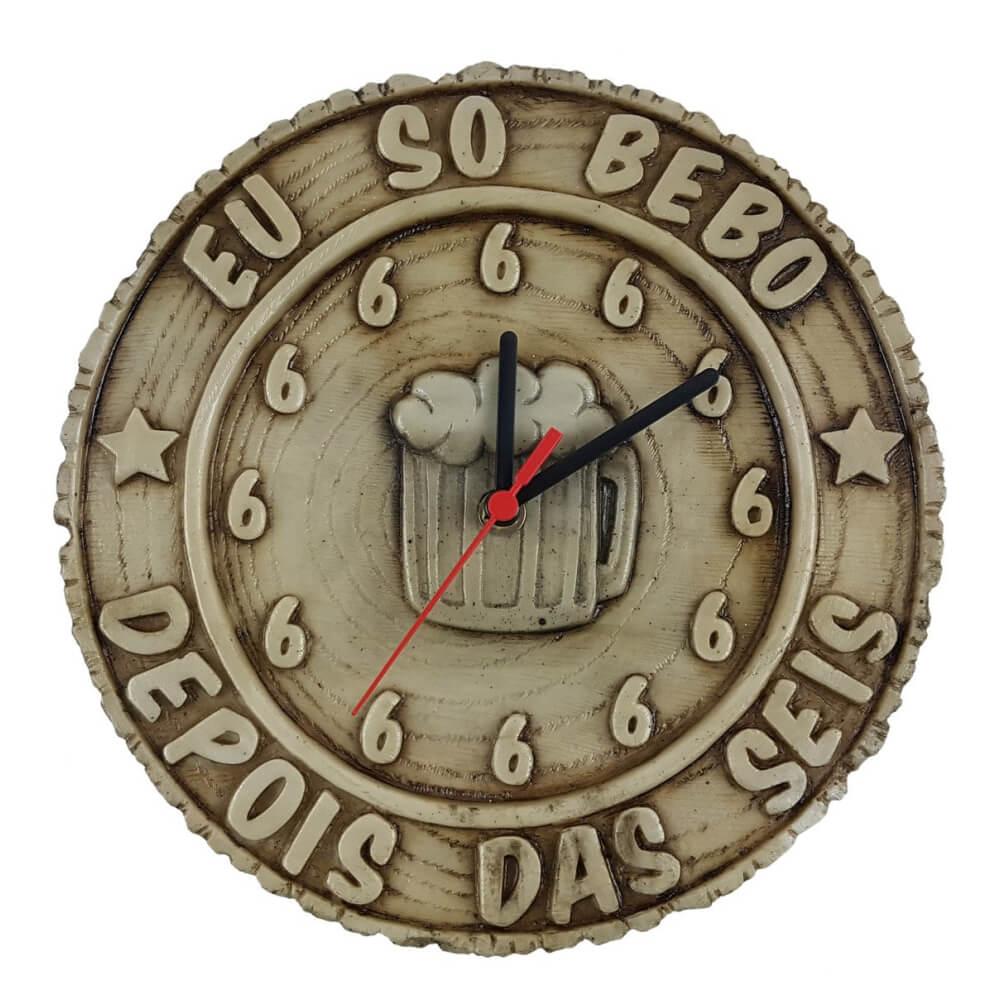 Relógio De Parede Eu só Bebo depois das 6 Cerveja chopp