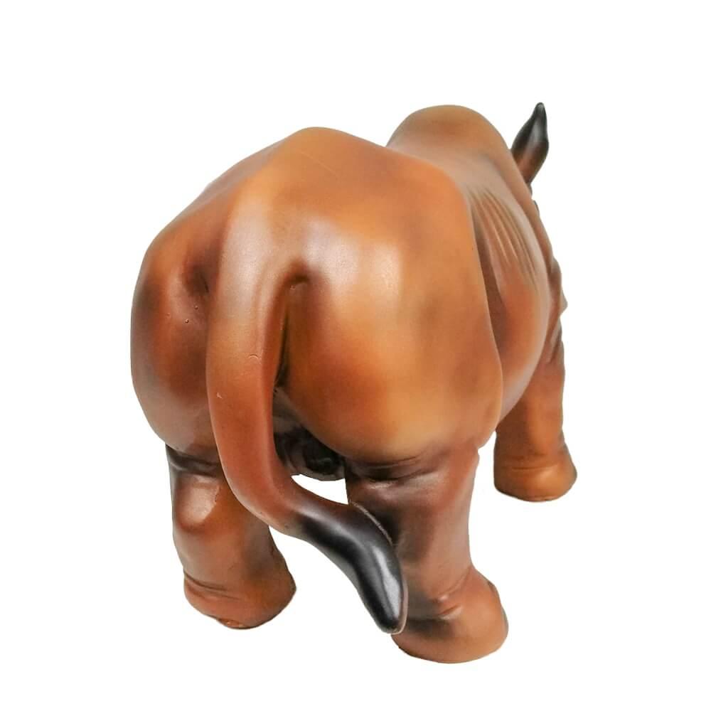 Rinoceronte Réplica Estatua Decorativo Em Resina Grande