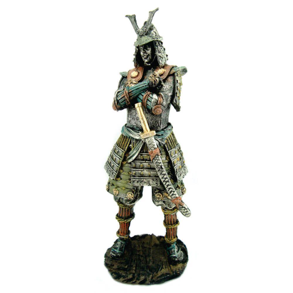 Samurai Japonês Decoração Guerreiro Medieval Grande