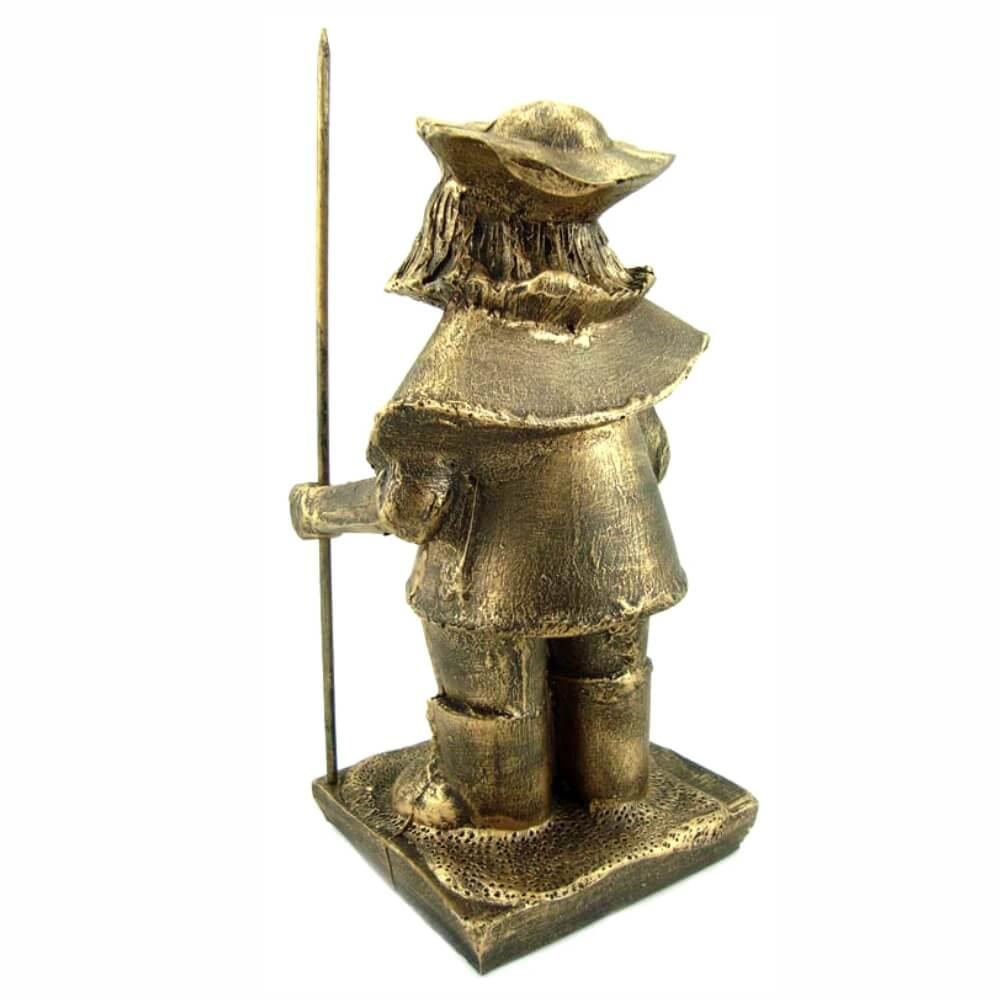 Sancho Pança Dourado Cervantes Dom Quixote Decoração