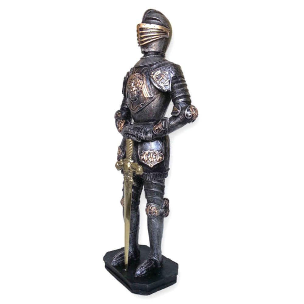 Soldado Medieval Com Espada em metal grande.