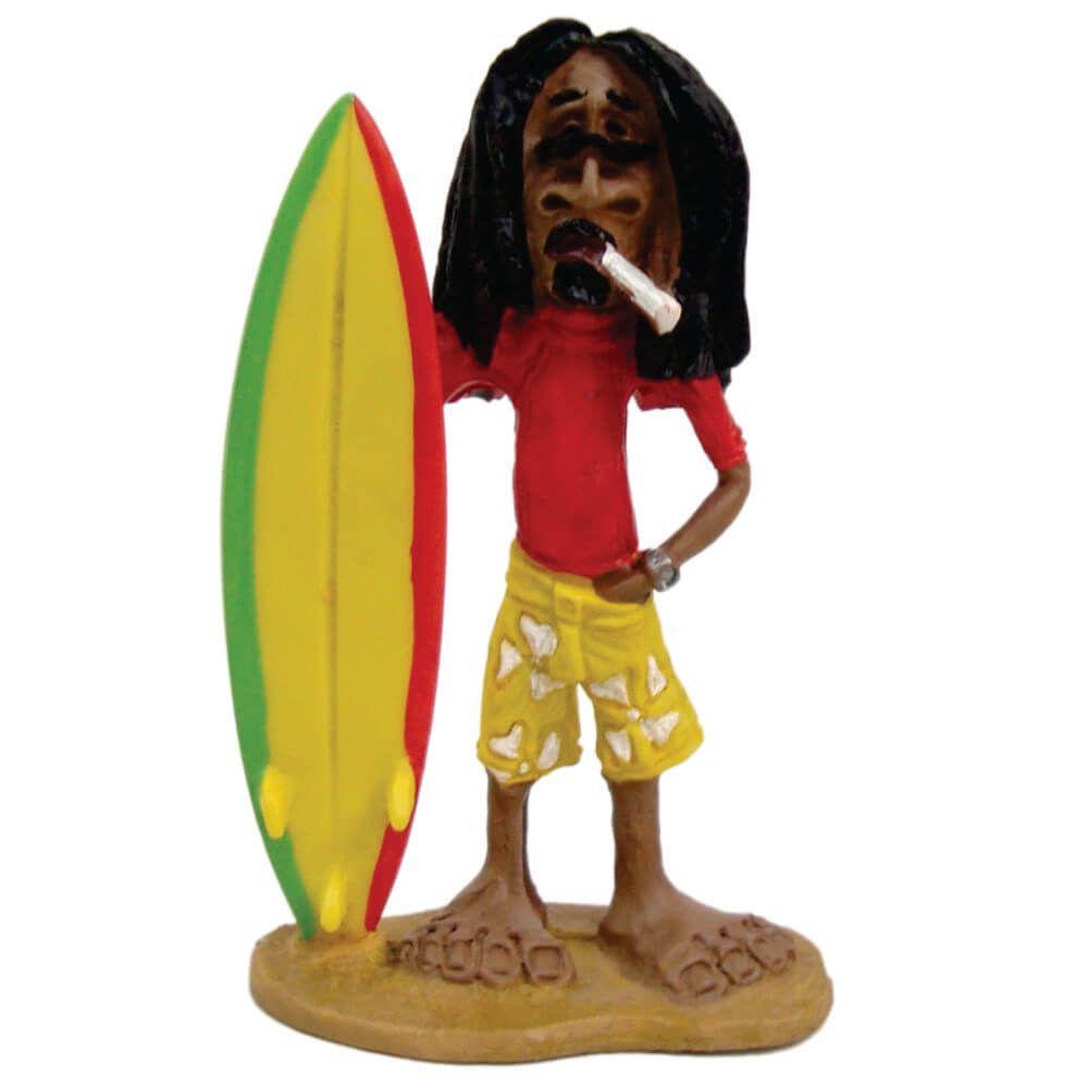 Surfista Bob Marley prancha decoração Médio