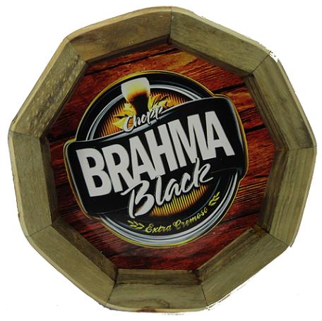Tampa de Barril em madeira Personalizada Cerveja Brahma Black