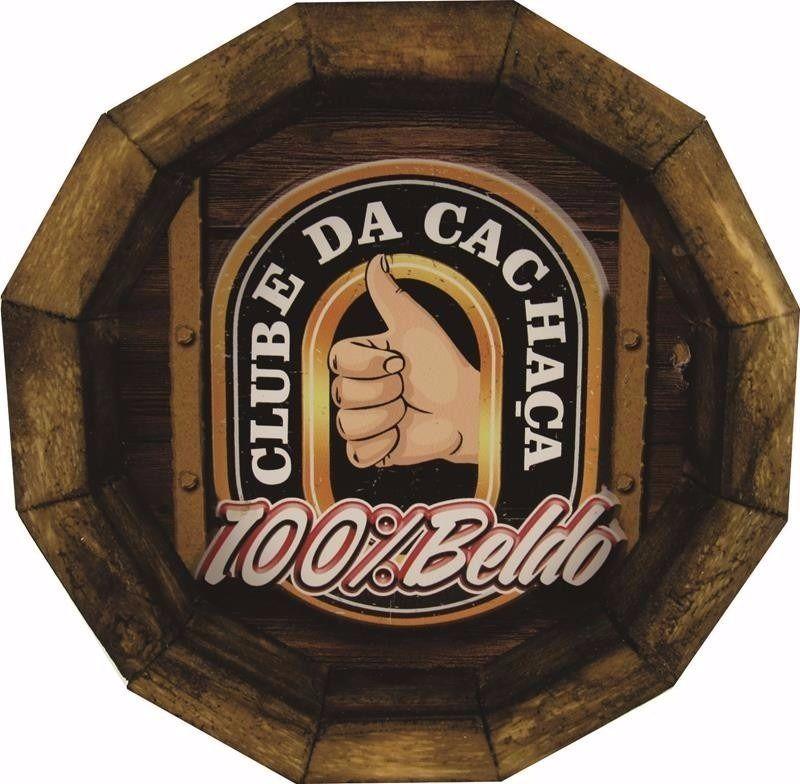 Tampa de Barril em madeira Personalizada Clube da Cachaça