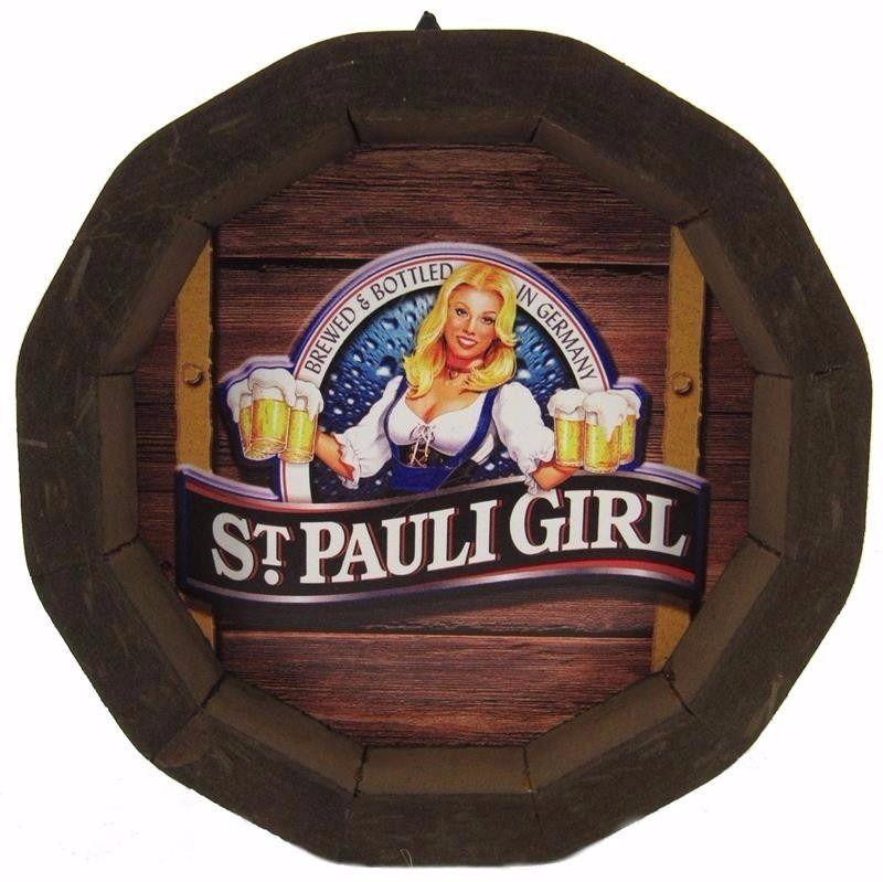 Tampa de Barril em madeira Personalizada Pauli Girl