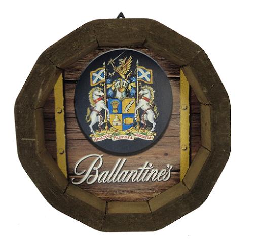 Tampa de Barril em madeira Personalizada Wisky Ballantines
