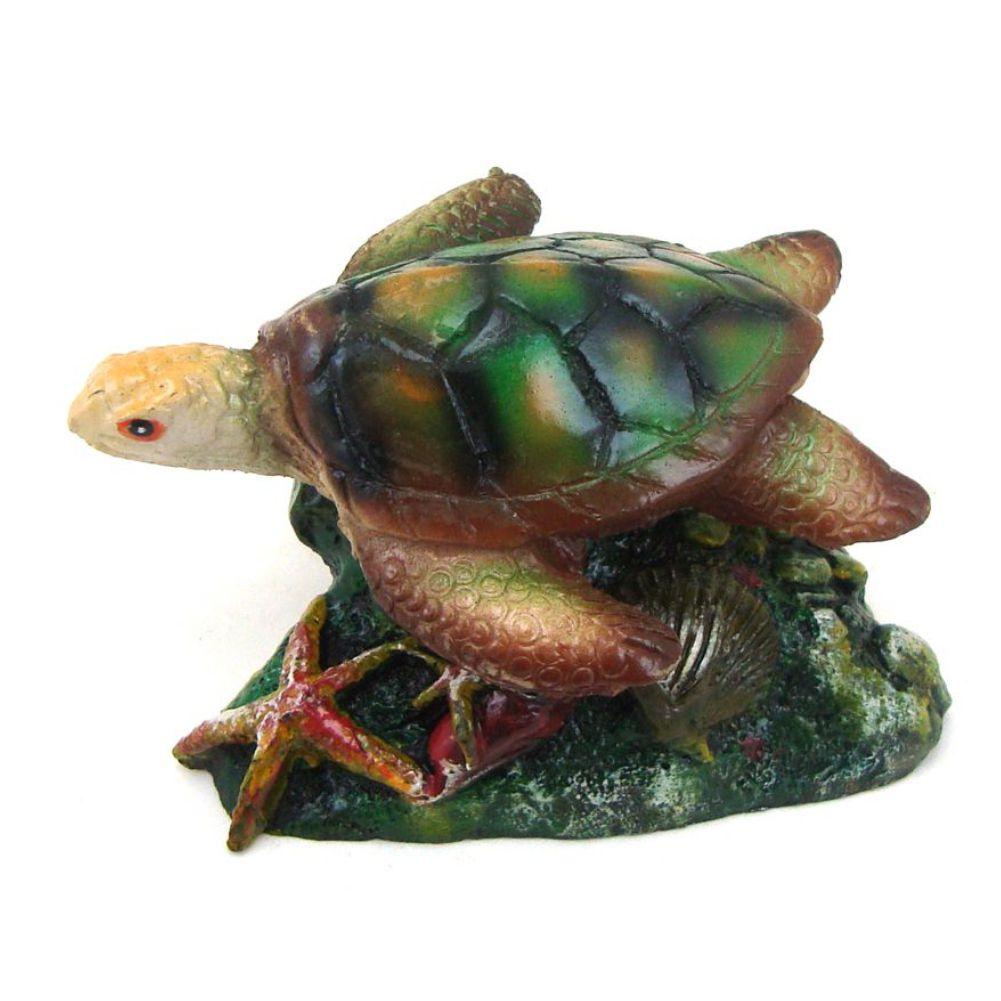 Tartaruga Marinha enfeite para aquário decoração.