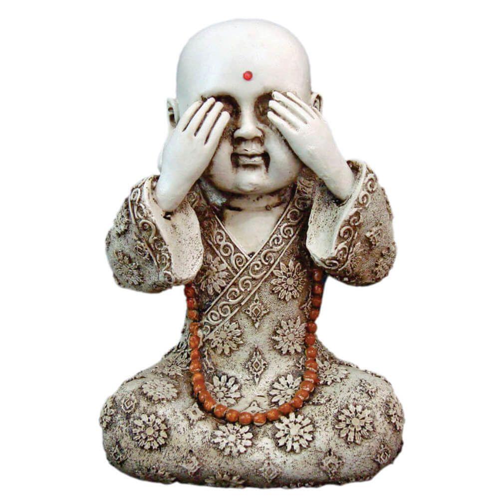 Trio Buda chinês Sábio cego surdo e mudo
