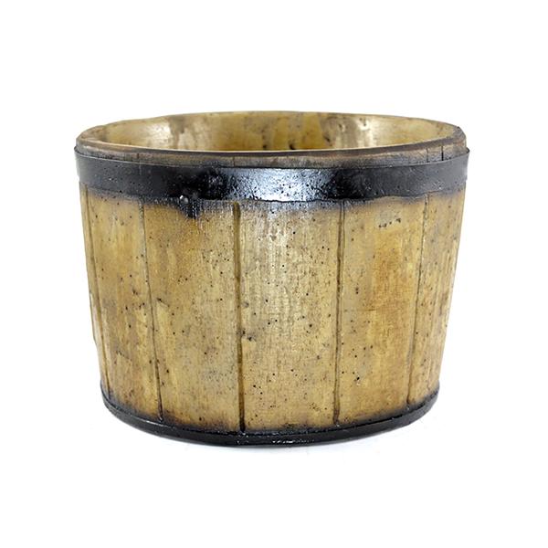 Vaso em resina estilo madeira