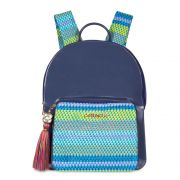 Mochila Petite Jolie Kit Lançamento Azul Acinzentado/Multicolor PJ4745