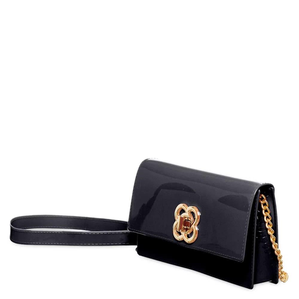 Bolsa Carteira Petite Jolie Long Wallet Clutch que Vira Pochete Preta  - Prime Bolsas