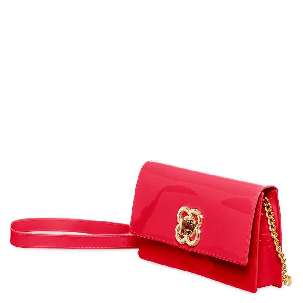 Bolsa Carteira Petite Jolie Long Wallet Clutch que Vira Pochete Vermelha  - Prime Bolsas