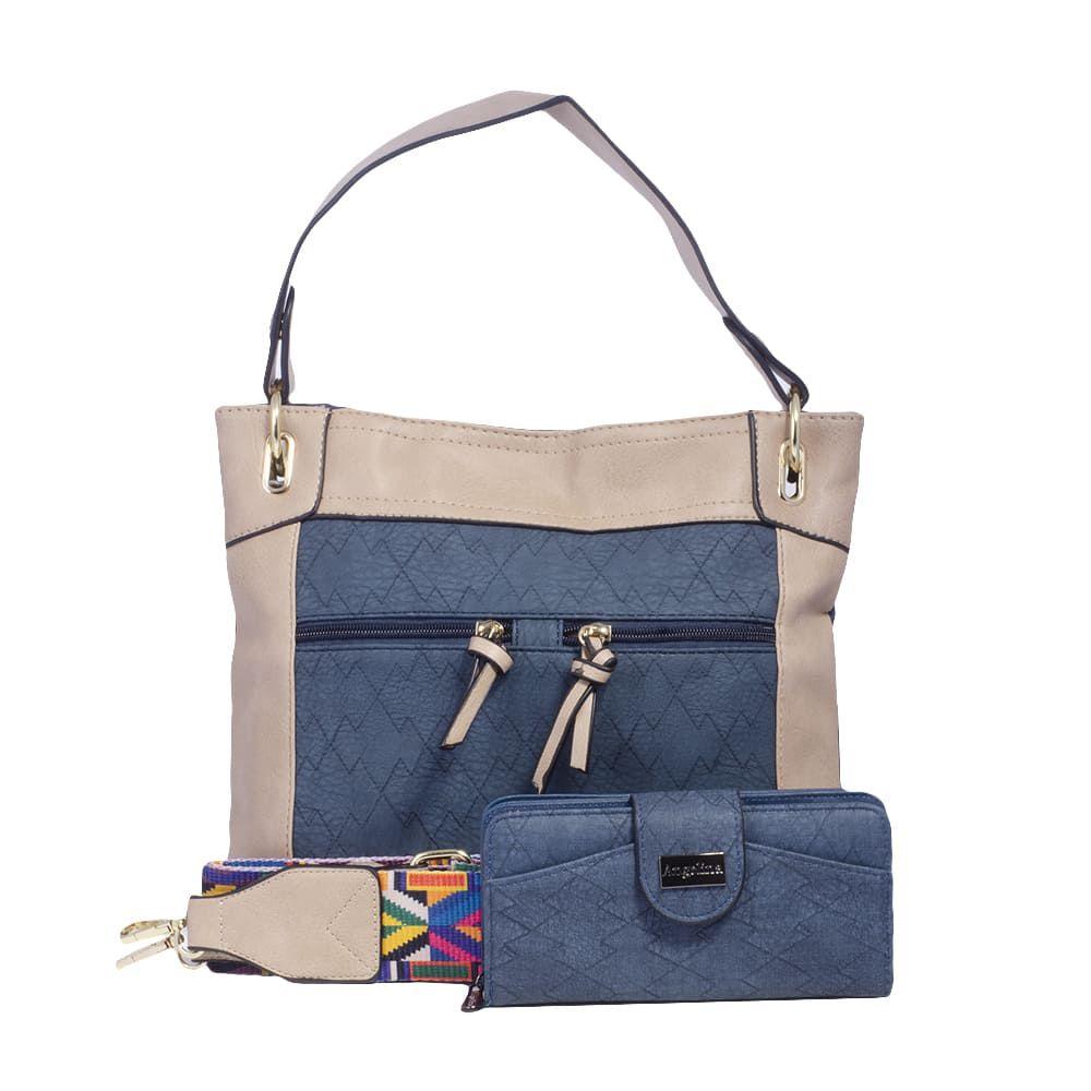 e1469d938 Bolsa Carteiro Azul Jeans com Alça Colorida, Carteira e Porta Cartões -  Prime Bolsas ...