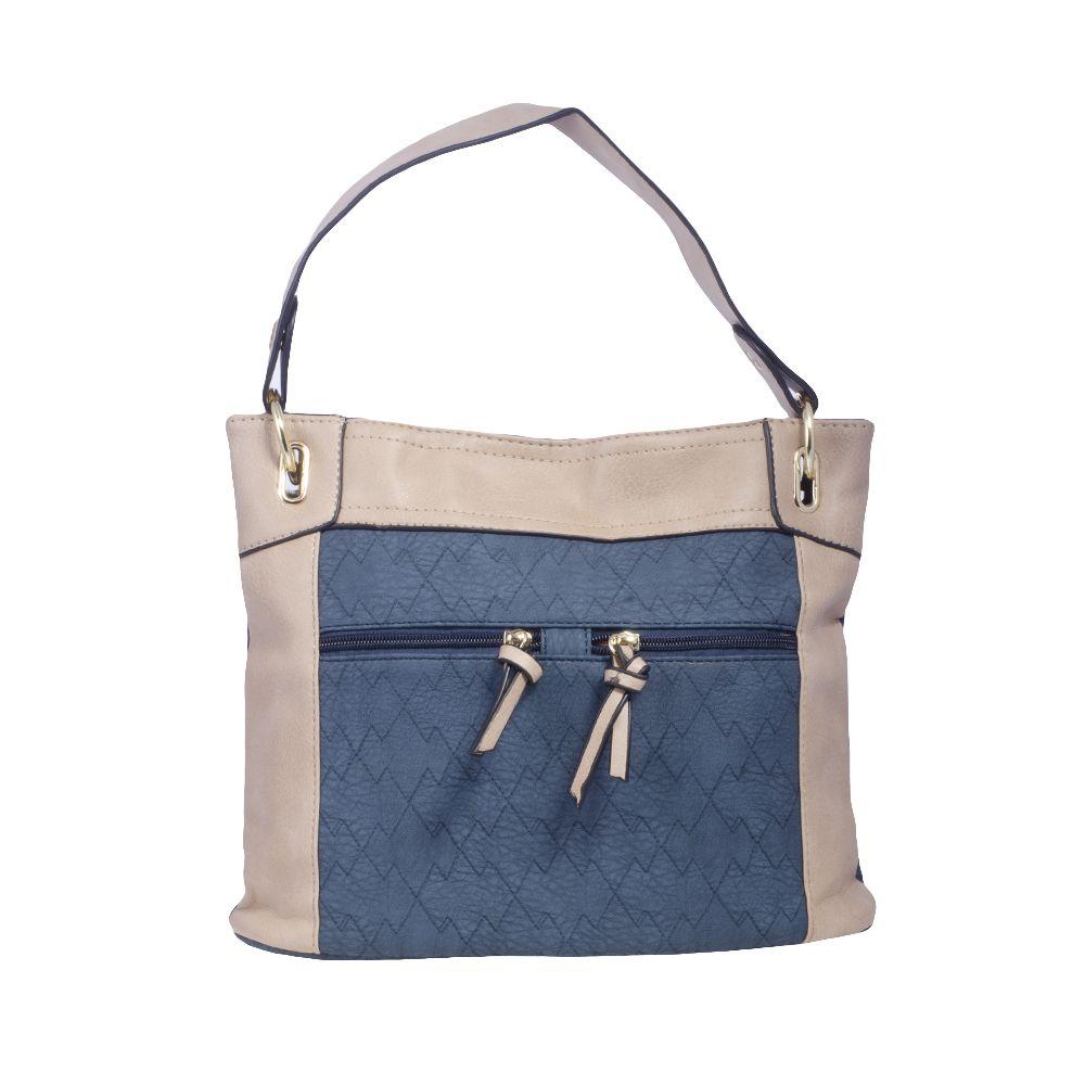 Bolsa Carteiro Azul Jeans com Alça Colorida, Carteira e Porta Cartões  - Prime Bolsas